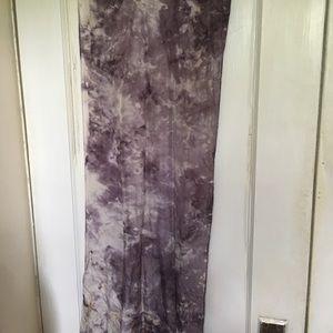 Silky Purple Tie Dye Scarf